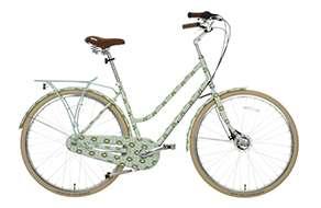 Womens classic bike - full cover duck egg tall flower