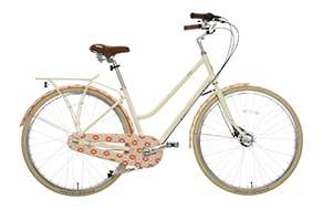 Womens classic bike - pink tall flower