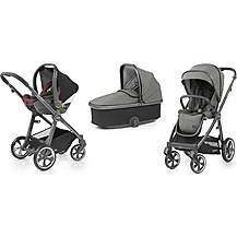 image of Oyster 3 Stroller and Carrycot Travel System Bundle - City Grey with Mercury Fabric
