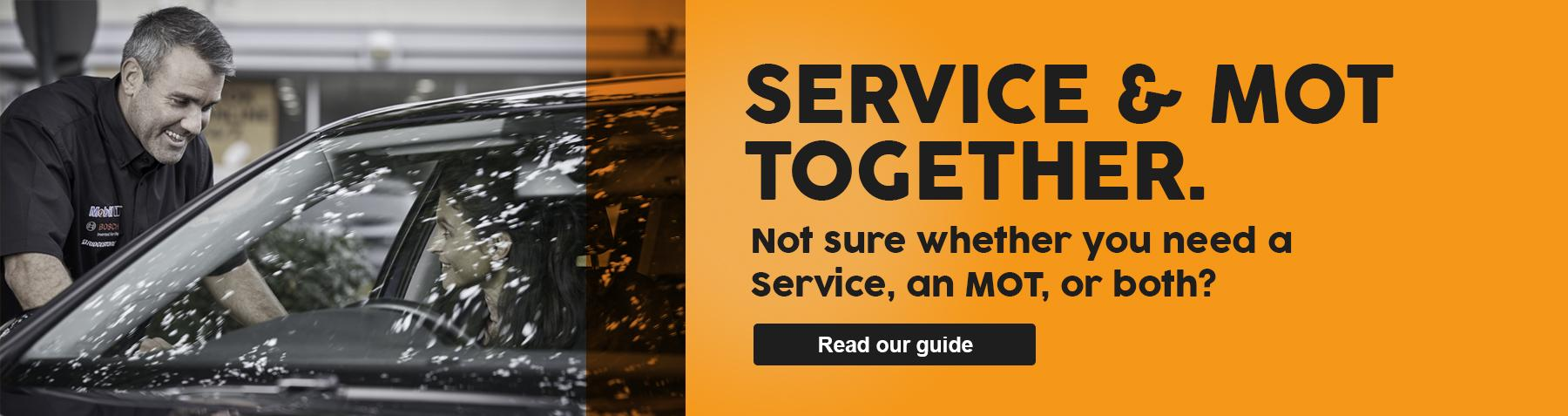 Service and MOT together advice
