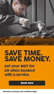 MOT from only £15 with a service