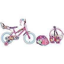 """image of Disney Princess Kids Bike - 14"""" Helmet, Knee & Elbow Pad Backpack Set"""