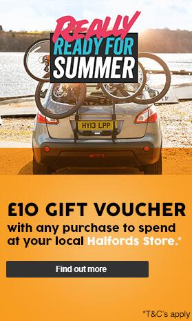 £10 Halfords Gift Voucher with any purchase
