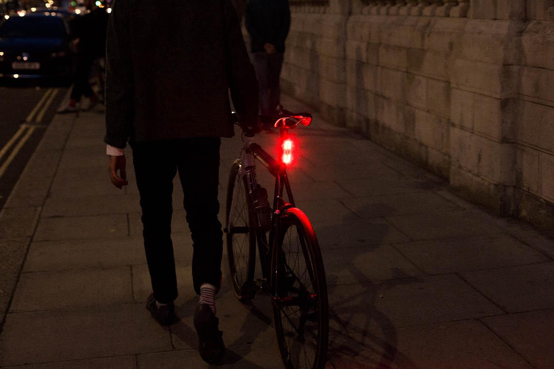 Rear bike light on seatpost