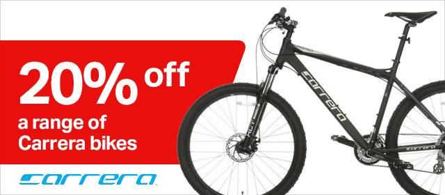 20% off a range of Carrera bikes