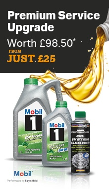 Mobil Premium Service Upgrade, worth £98.50, from just £25