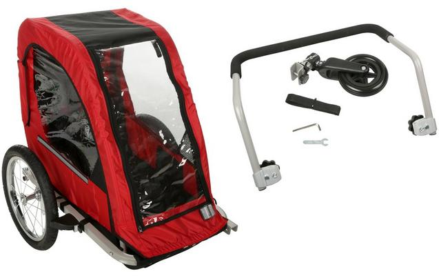 Halfords Single Child Bike Trailer & Bike Stroller Accessory Kit Bundle