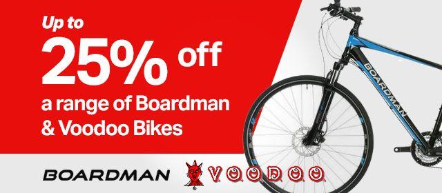 25% off a range of Boardman & Voodoo Bikes