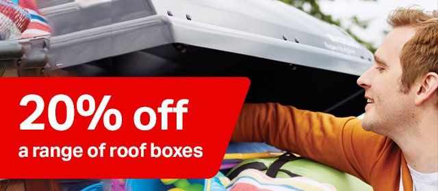 20% off a range of roofboxes