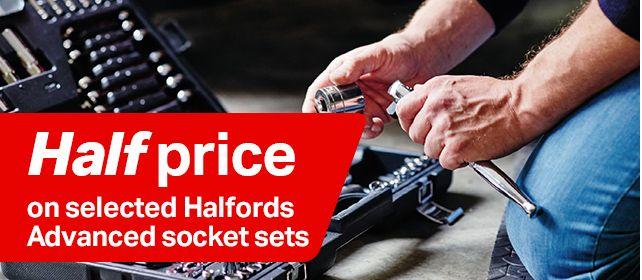 Half price selected Halfords advanced socket sets