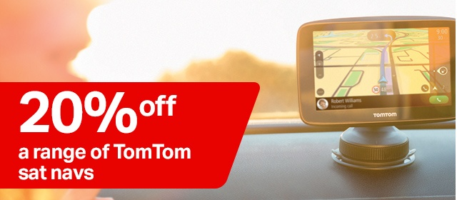 20% off a range of tom tom sat navs