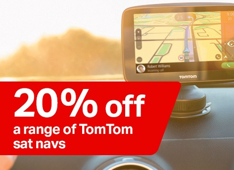 20% off a range of tomtom sat navs