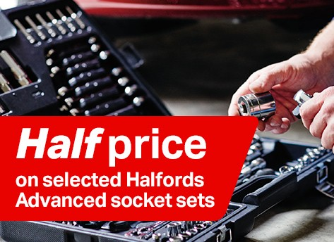 Half price selected Halfords Advanced Socket Sets