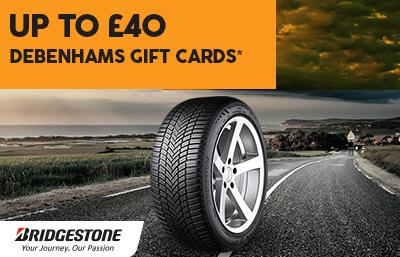 Up to £80 Bridgestone gift cards