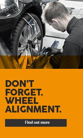 Don't forget your wheel alignment - £31.99