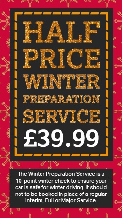 HALF PRICE Winter Preparation Service - now £39.99