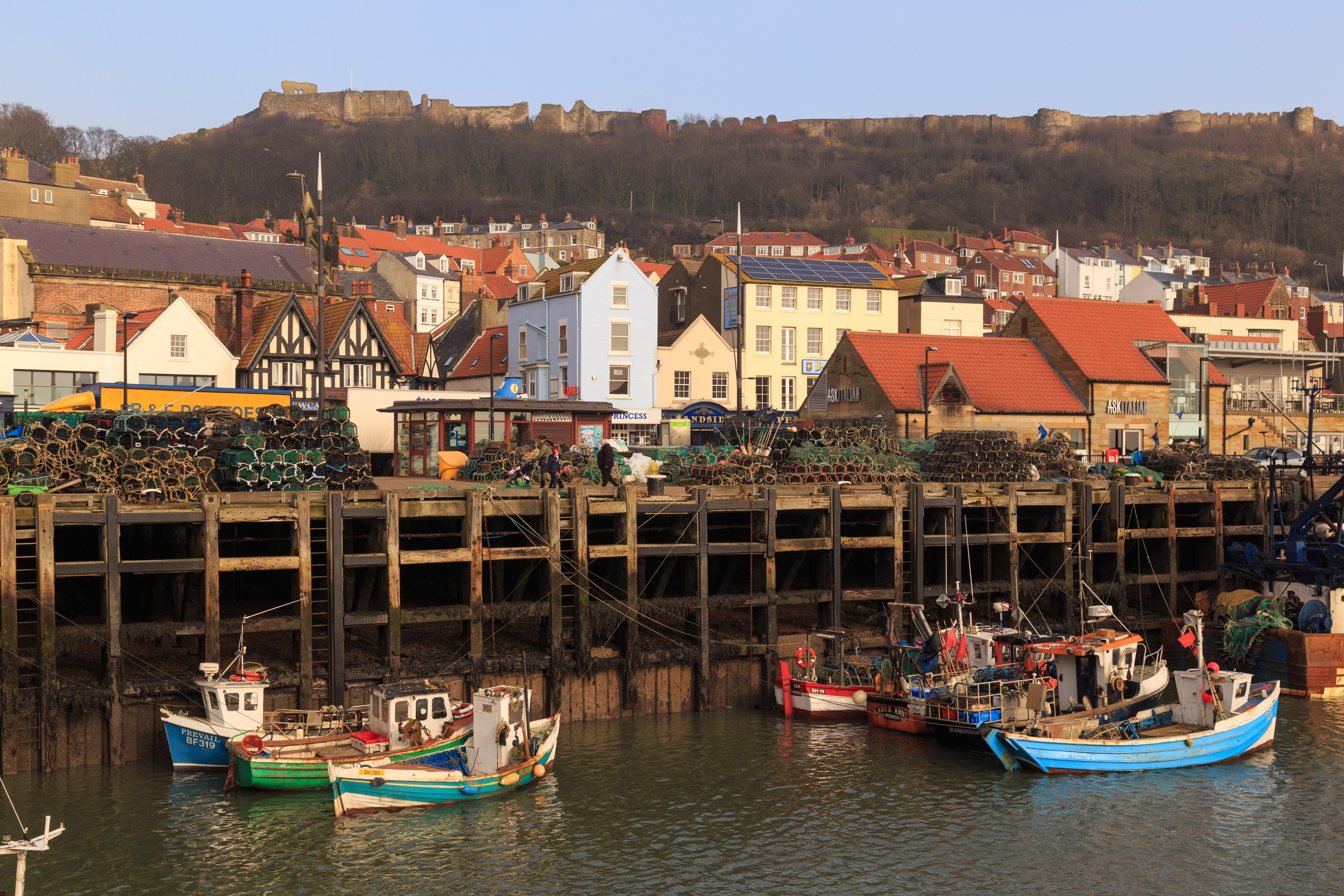 Scarborough harbour, Yorkshire