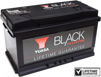 Yuasa Black Lifetime Guarantee Battery 110