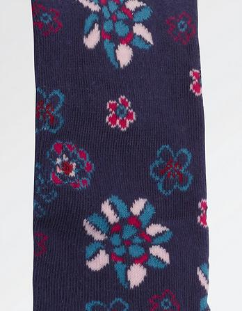 Floral Pattern Tights