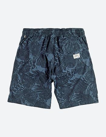Reef Tonal Leaf Deck Shorts