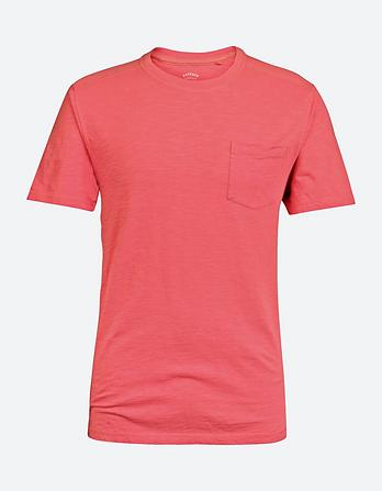 Slub Pocket Crew Neck T-Shirt
