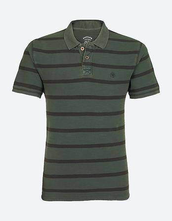 Garment Dye Stripe Polo