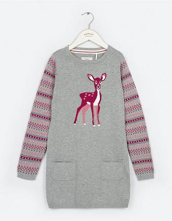 Deer Knitted Dress