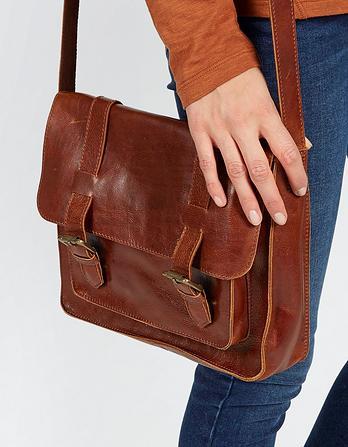 Claire Leather Satchel Bag