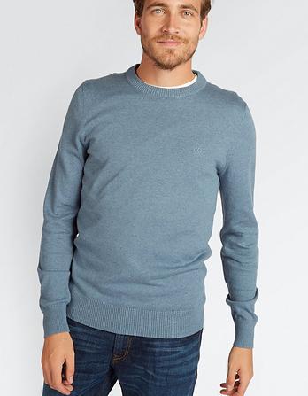 Cotton Cashmere Crew Neck Sweater