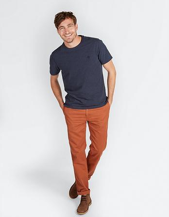 Organic Cotton Marl Crew Neck T Shirt