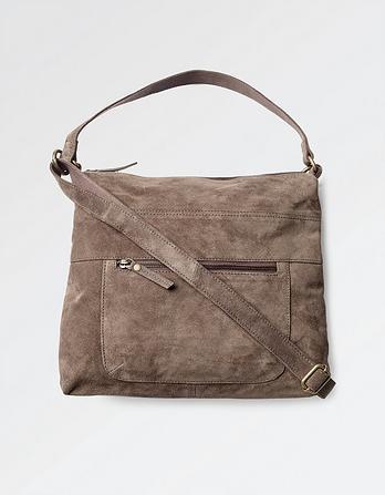 Sally Suede Shoulder Bag