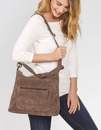 Sally Suede Shoulder Bag
