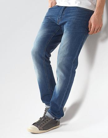 Light Blue Selvedge Slim Jeans