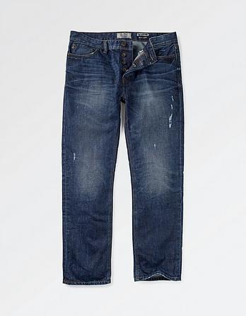 Mid Blue Straight Jeans
