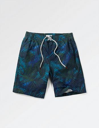 Reef Palm Leaf Deck Shorts