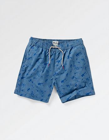 Fistral Shark Print Swim Shorts