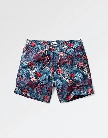 Coral Print Swim Shorts