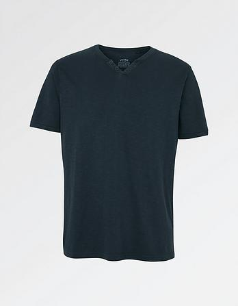 Organic Cotton Slub Henley T Shirt