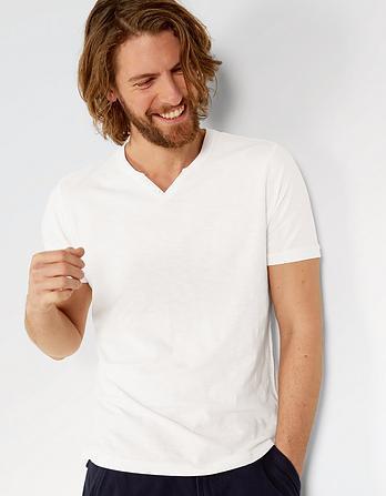 Organic Cotton Slub Henley T-Shirt