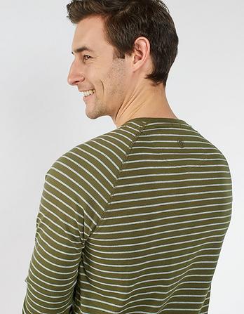 Fine Stripe Henley T-Shirt