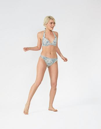 Etched Ethnic Ruched Bikini Bottoms