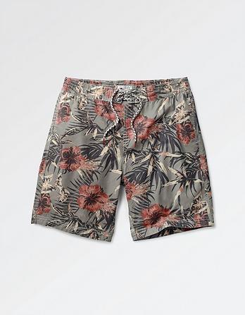 Reef Tropical Leaf Deck Shorts