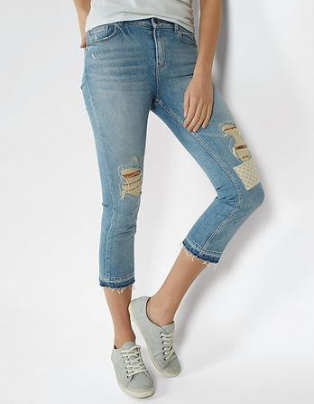 Pale Patch Straight Leg Crops