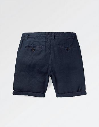 Linen Flat Front Shorts