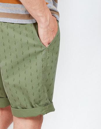 Cactus Print Chino Shorts