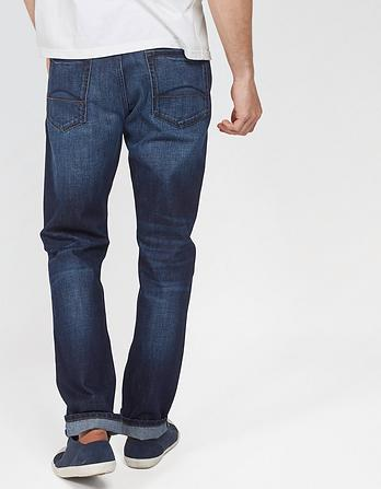 Vintage Dark Blue Tapered Jeans