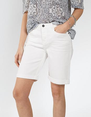 Garment Dye Denim Bermuda Shorts