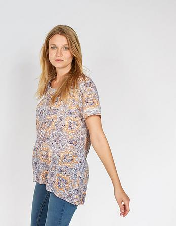 Hannah Sunset Paisley Top