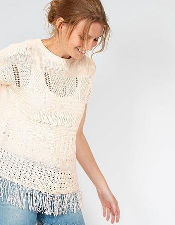 Tallulah Cap Sleeve Knitted Top