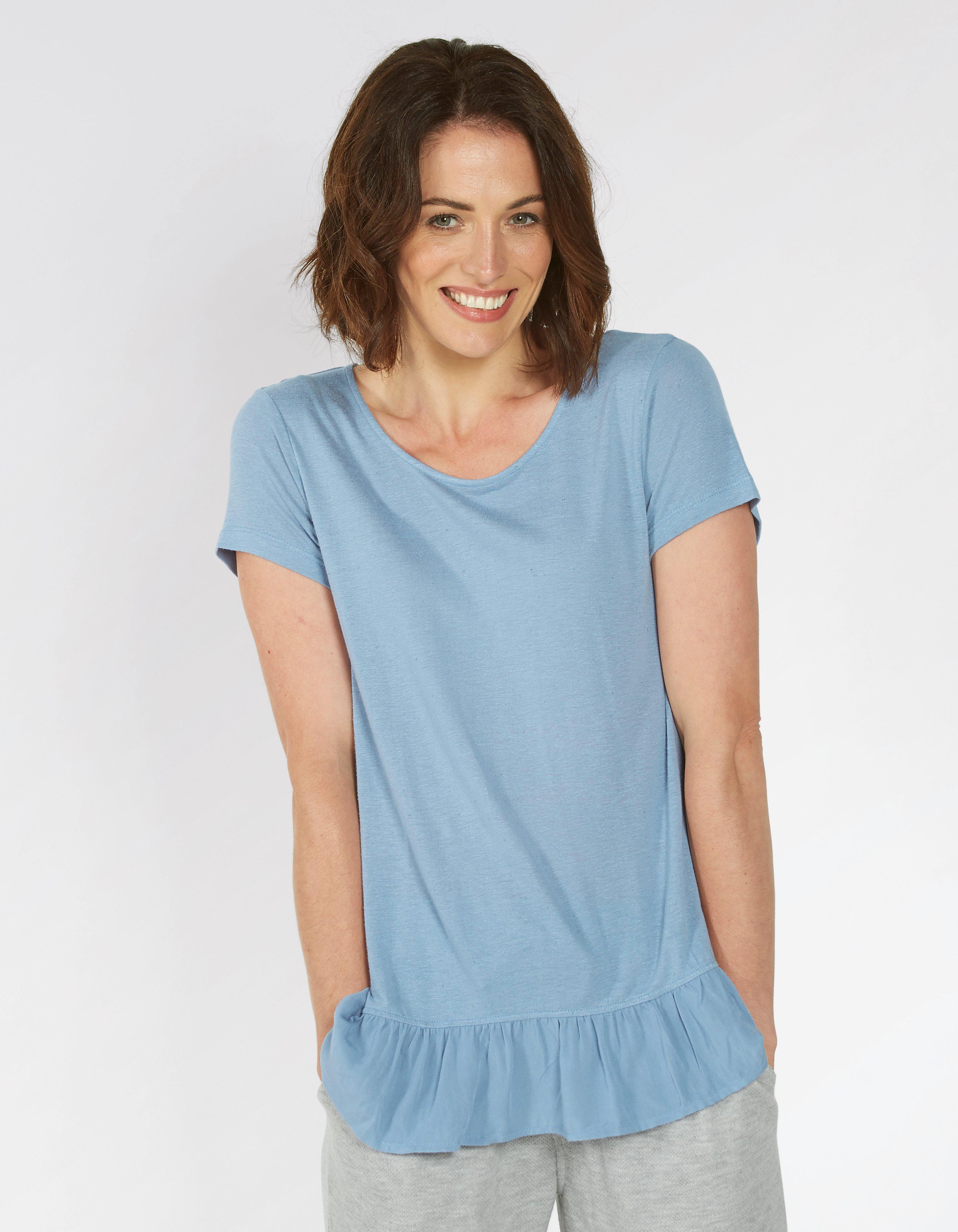 Frill Peplum T Shirt